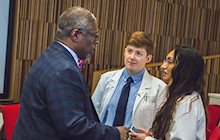 Kansas City Mayor, Sly James, talks to students