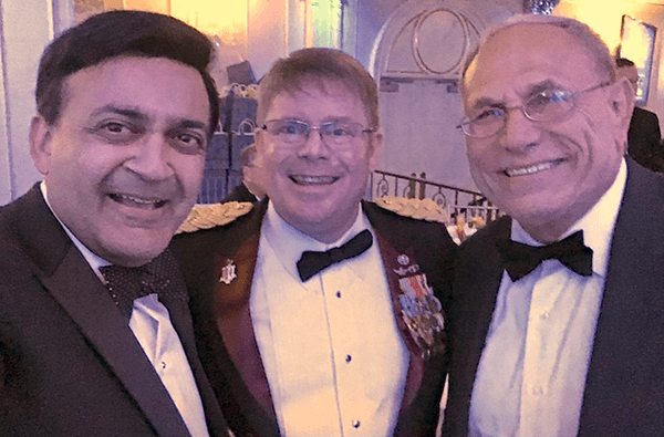 L to R: Humayun Chaudhry, DO, MPH, Kevin O'Connor, DO, and Maj. Gen. Philip Volpe, DO, are fellow veterans and NYIT alumni.