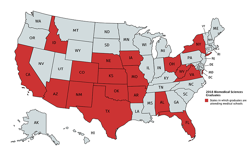 BIOS 2018 Graduates in Medical Schools By State