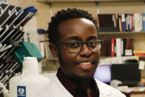 KCU Student Researcher Roy Muriu