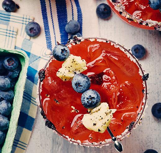 Caesar aux bleuets