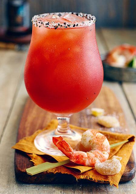 Caesar au gin et au gingembre