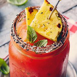 Pineapple Basil Caesar