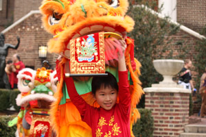 The Lion Dance Finale at the Penn Museum's Chinese New Year Celebration