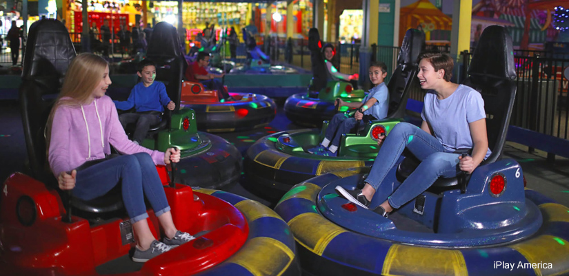 Bumper cars at iPlay America