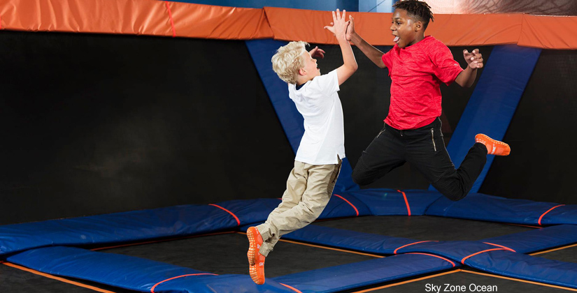 Kids jumping and having fun at Sky Zone in NJ