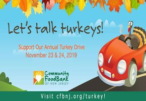 Community FoodBank of New Jersey's 19th Annual Turkey Drive