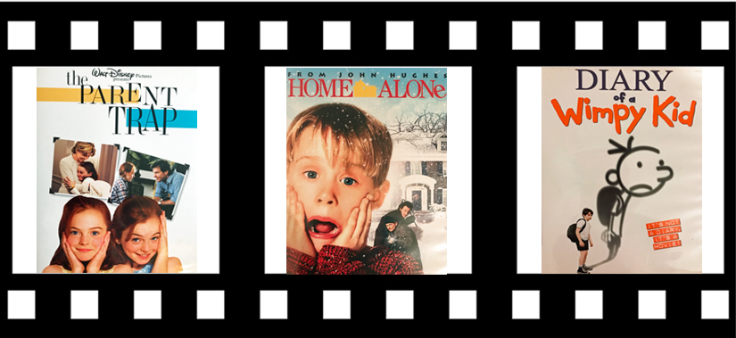 Family and kids comedy movies, The Parent Trap, Home Alone, Diary of a Wimpy Kid