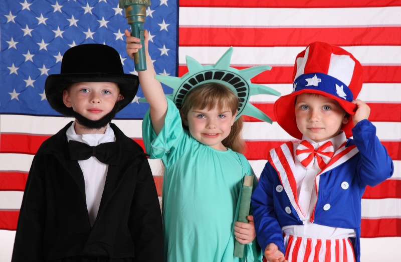 Kids Desssed up in Patriotic