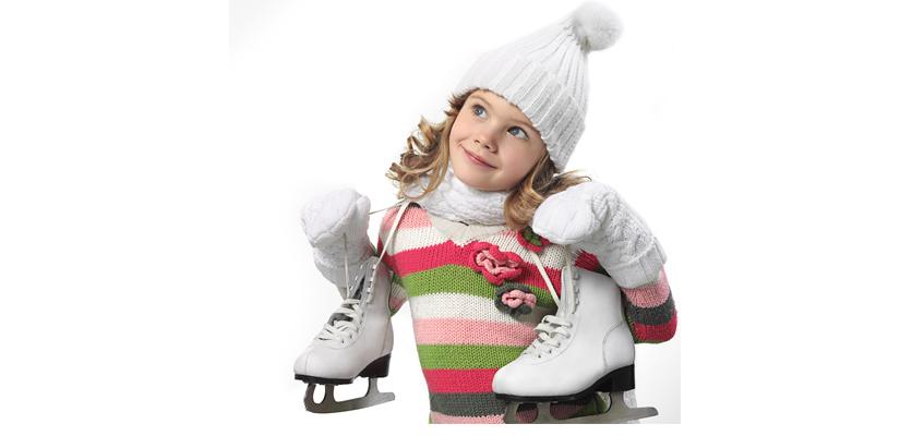 Girl ice skating in New Jersey