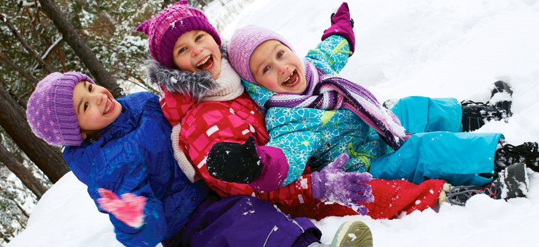 Kids and outdoor fun in the snow
