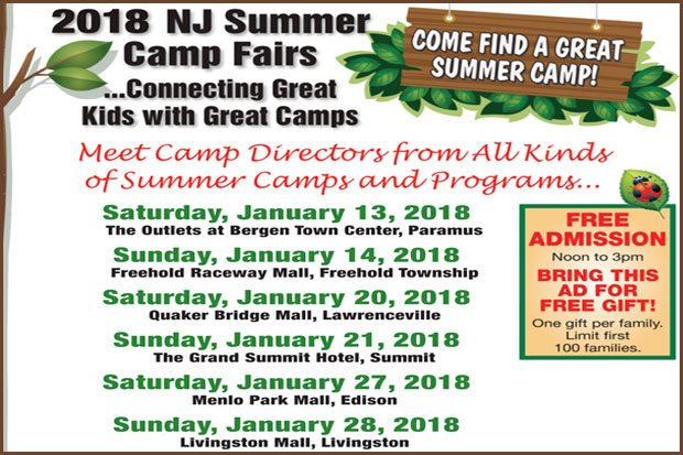 NJ Camp Fairs 2018