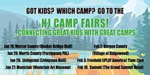 FREE NJ Camp Fairs - Jan - Feb 2019