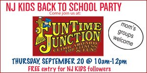 Join NJ Kids Back to School Party at Funtime Junction  - Sept 20.