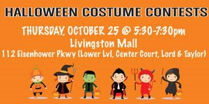 Join NJ Kids: Halloween Costume Contests at Livingston Mall, Oct 25