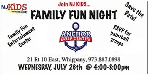 Join NJ Kids Family Fun Night at Anchor Golf Center!, July 26 4-8m