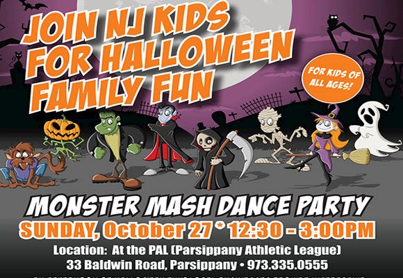 Join NJ Kids: Monster Mash Dance Party at  PAL: Parsippany Athletic League