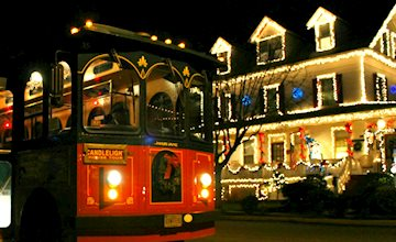 Holiday Lights Trolly Rides In Cape May