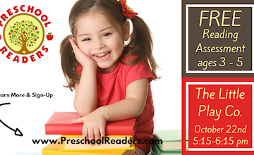 Free Reading Assessment Ages 3-5 at The Little Play Co, Hoboken, NJ