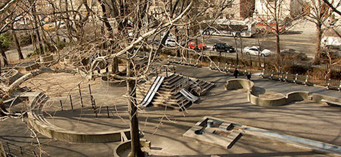 A birdseye view of Adventure Playground.