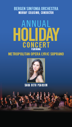 Bergen Sinfonia Orchestra Annual Holiday Concert at Anna Maria Ciccone Theatre