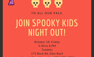 Kids Night Out - Spooky Fun! at Tumbles Glen Rock