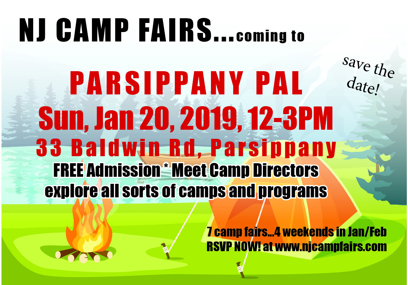 NJ CAMP FAIRS - MORRIS COUNTY Camp Fair held at Parsippany PAL