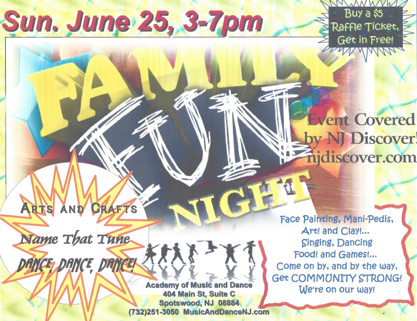 Family Fun Night at the Academy of Music and Dance in Spotswood, NJ
