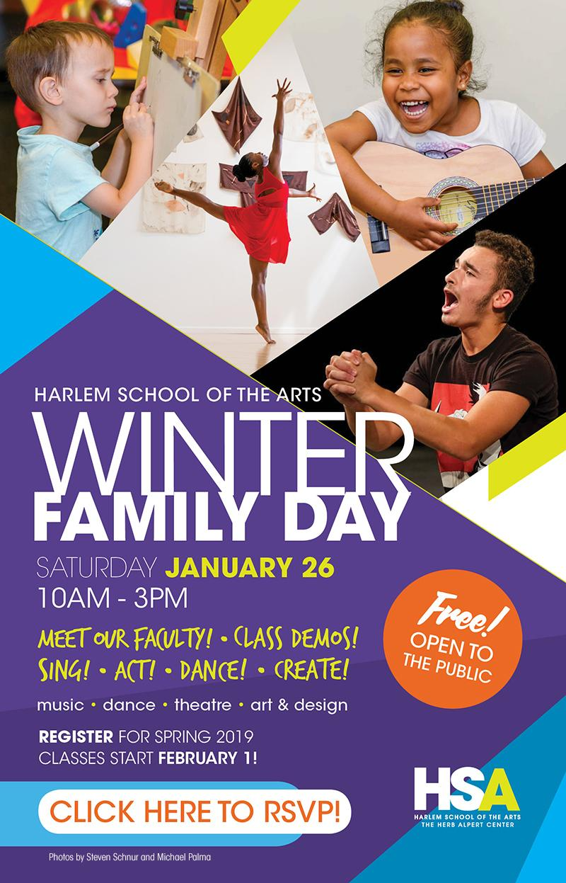 Winter Family Day at Harlem School of the Arts
