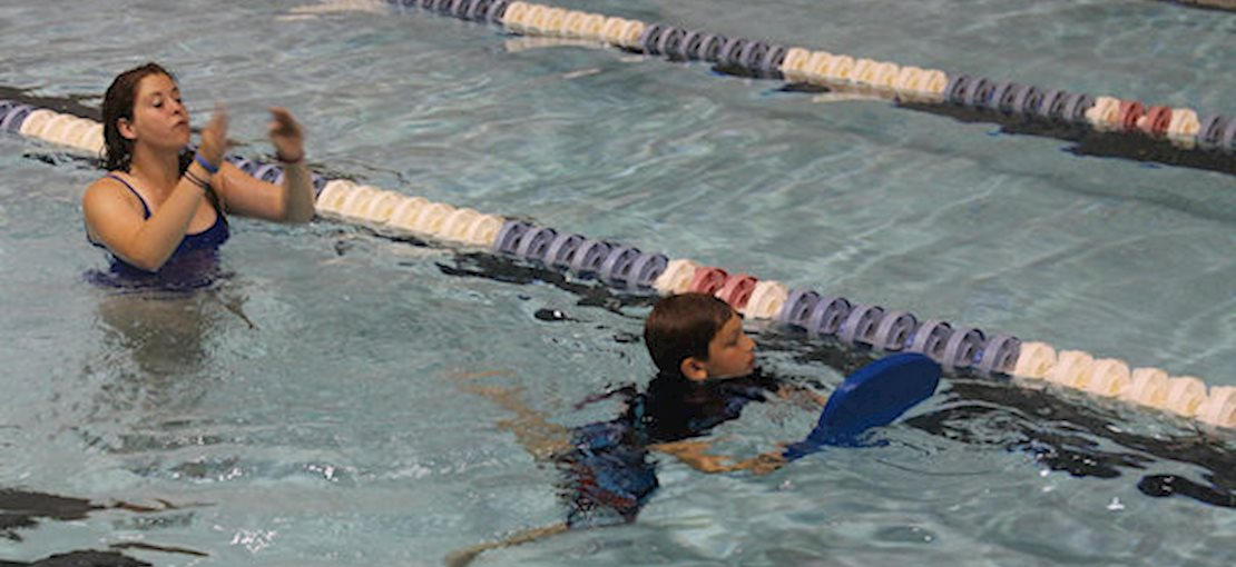 Campus Kids Activities include Swimming Lessons and Free Swim