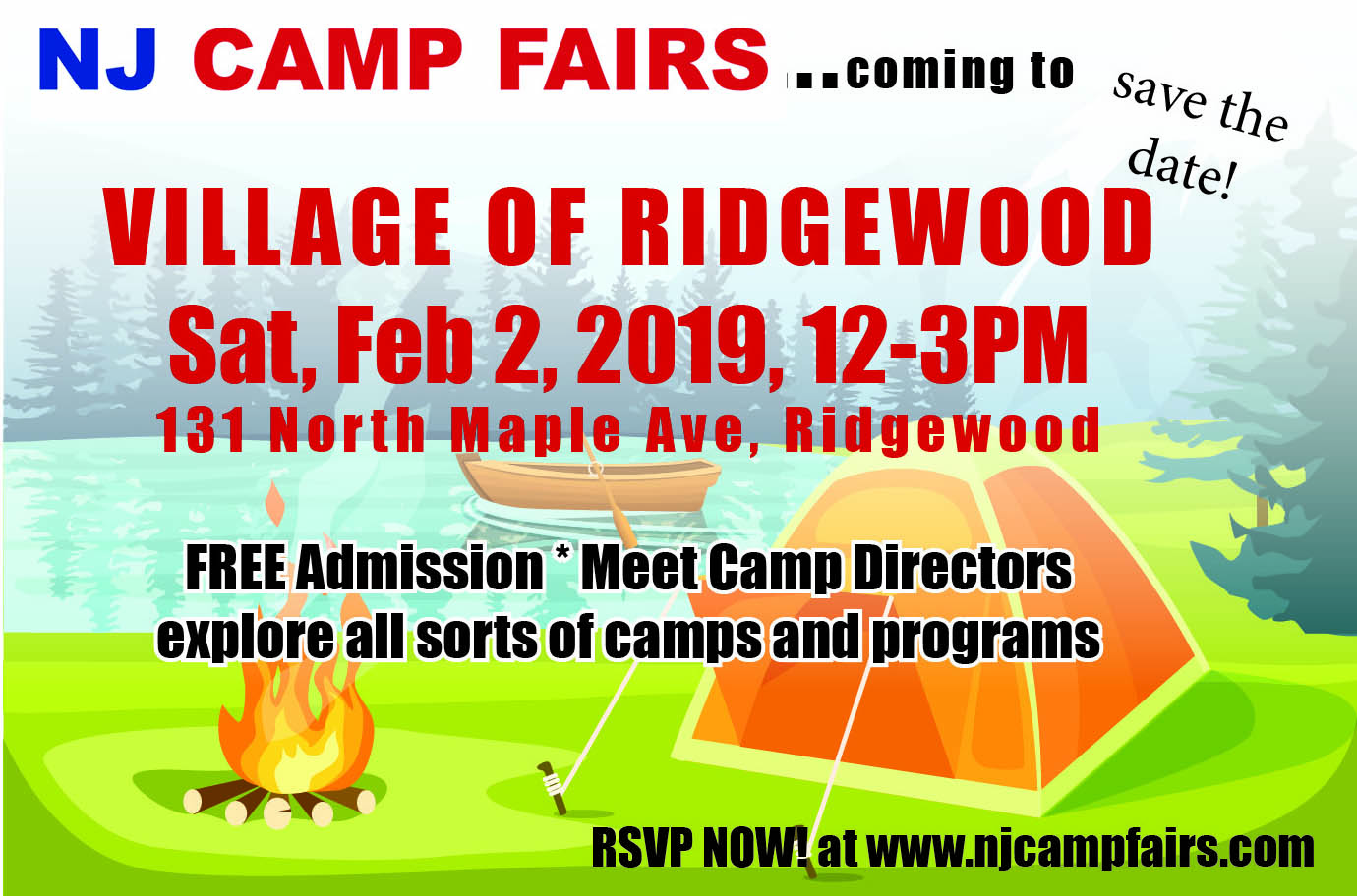 NJ CAMP FAIRS - held at Village of Ridgewood