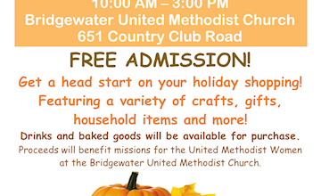 Fall Vendor & Craft Fair at Bridgewater United Methodist Church