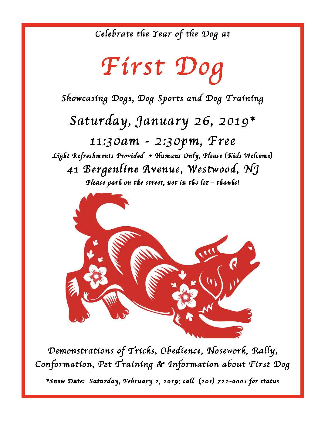 First Dog's Year of the Dog Open House and Demonstrations