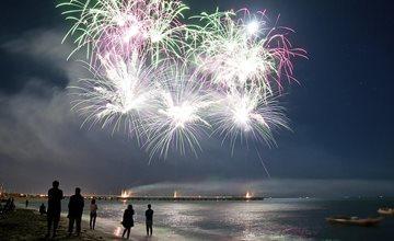 Fireworks at Seaside Heights Boardwalk