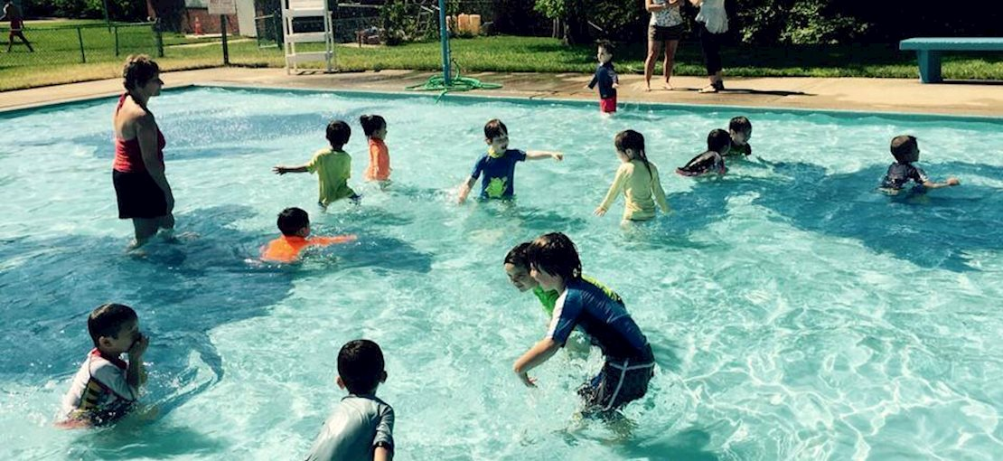 Pool fun is available at the beautiful Palisades Park Swim Club during Summer Camp!