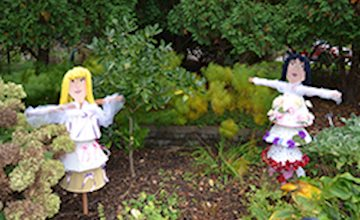 Scarecrows in the Garden at the Frelinghuysen Arboreum
