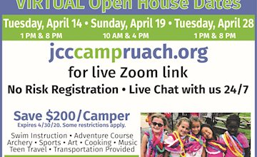 VIRTUAL OPEN HOUSE with Camp Ruach