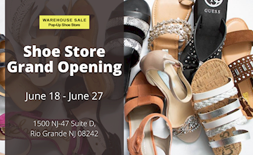 Warehouse Sale Pop-Up Shoe Store Grand Opening | All Kid's Shoes $10