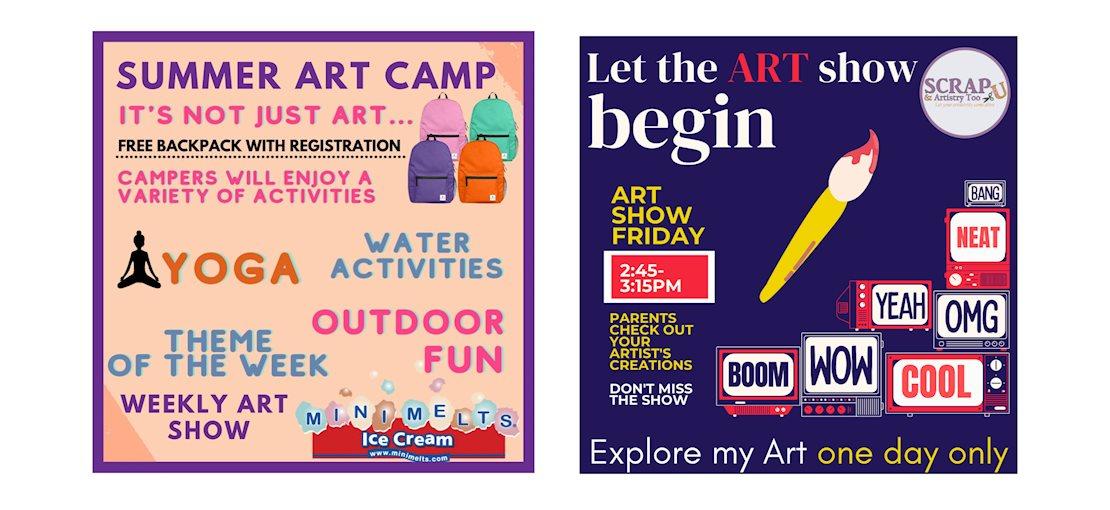Scrap U Art Camp and Art Shows