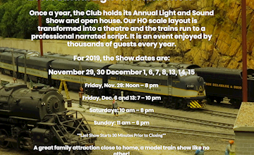 2019 Annual Light and Sound Show at the Model Railroad Club in Union Township