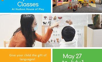 Spanish & Mandarin Classes at Hudson's House of Play