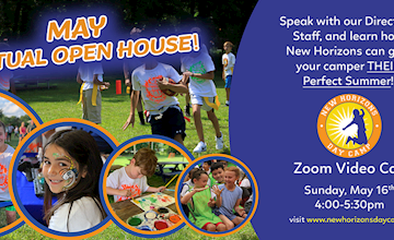 New Horizons Day Camp Virtual Open House - Get to know our camp and meet our staff