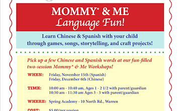 Mommy and Me Language Fun at Spring Academy in Warren
