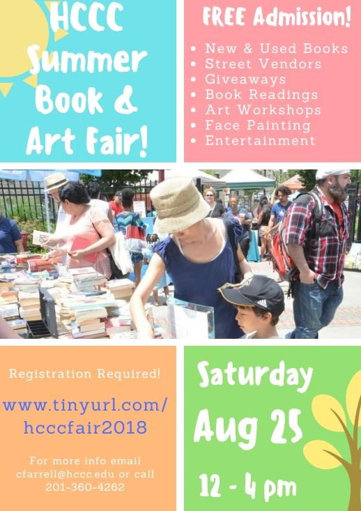 HCCC End of Summer Book/Art Fair at Culinary Plaza Park