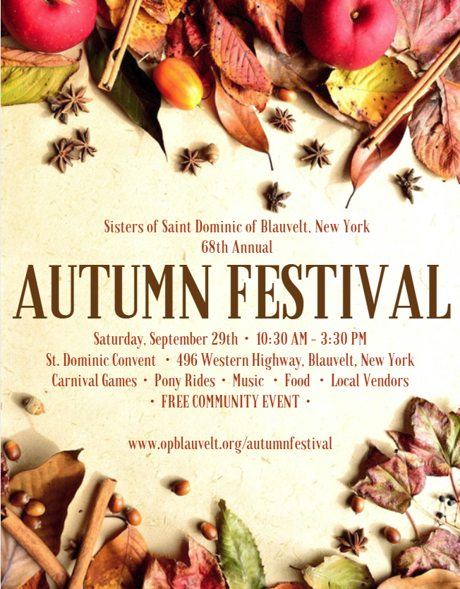 68th Annual Autumn Festival at the Convent of the Sisters of Saint Dominic of Blauvelt, NY