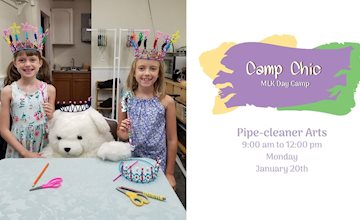 MLK Day Camp: Pipe Cleaner Arts at The Eclectic Chic Boutique