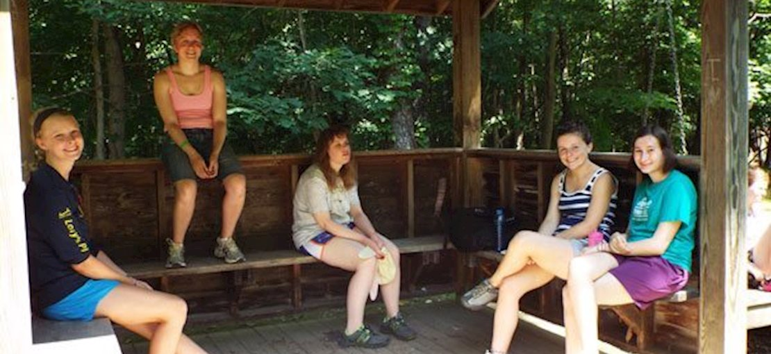 Camp Huntington Relaxing with Friends