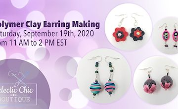 Polymer Clay Earring Making Workshop at The Eclectic Chic Boutique