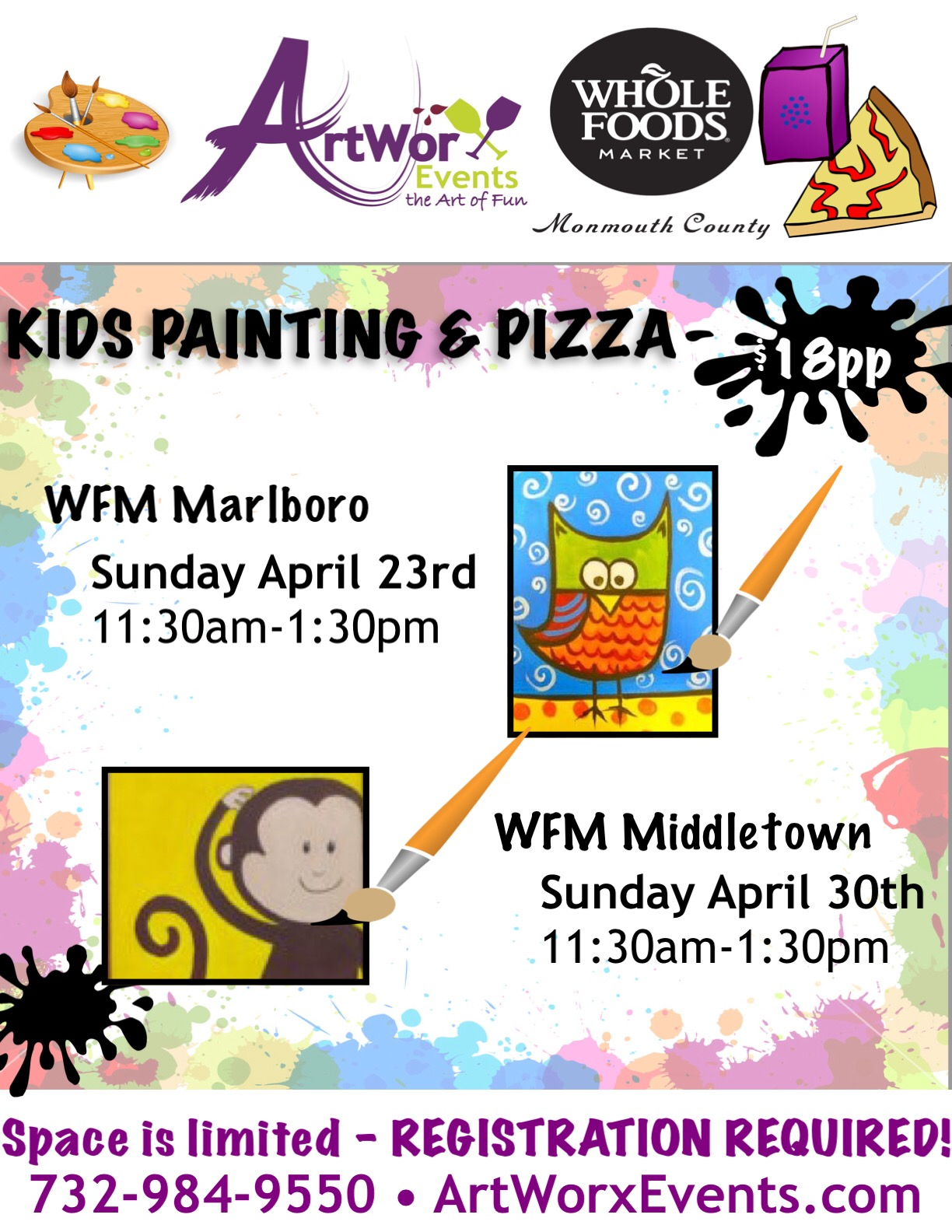 Painting & Pizza with ArtWorx Events