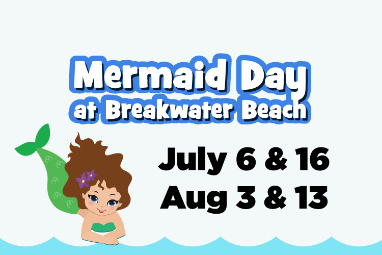 Mermaid Day at Breakwater Beach